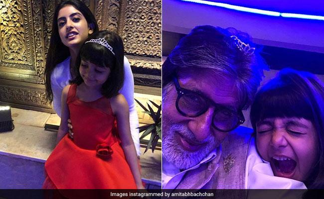 New Year's Day 2018: अमिताभ बच्चन ने Grand Daughters के साथ मनाया नए साल का जश्न, पोती से मिला स्पेशल गिफ्ट