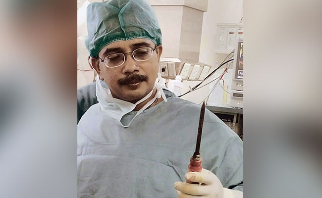 Ice Pick Lodged In Man's Chest Successfully Removed By AIIMS Doctors
