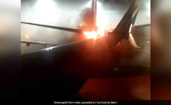 'Mayday, Mayday. We're Evacuating': Panic As Jets Collide, Sparking Fire