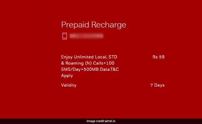 airtel rs 59 prepaid plan