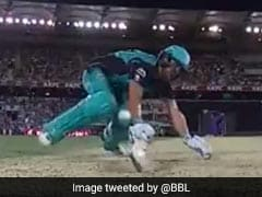 Watch: Brisbane Heat Batsman Given Out In First Ever Obstructing The Field Decision In Big Bash League