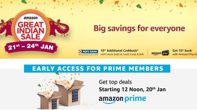 Amazon Great Indian Sale 21 जनवरी से, मोबाइल फोन व टीवी समेत कई प्रोडक्ट पर मिलेगी छूट