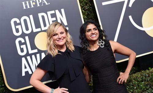 amy poehler at golden globes 2018