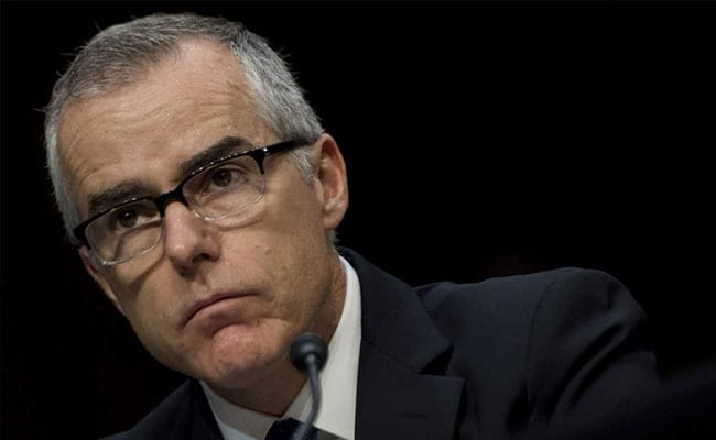 Ex-FBI Deputy Director McCabe Fired: Attorney General