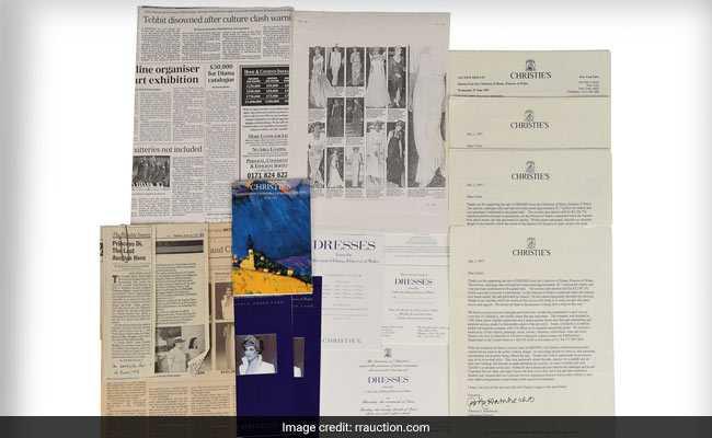 Rare, Signed Catalogue Of Princess Diana's Dresses Up For Auction
