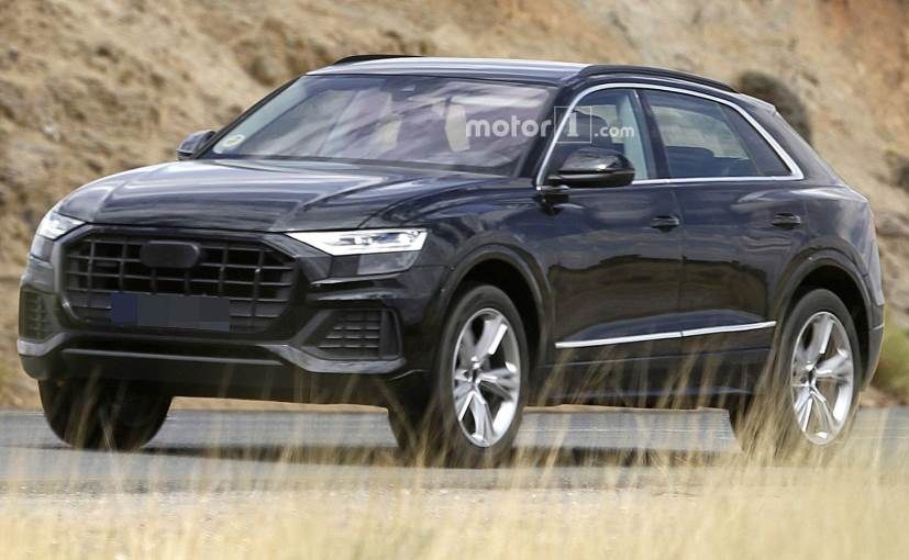 Near Production Audi Q8 Spotted With Minimal Camouflage Ndtv