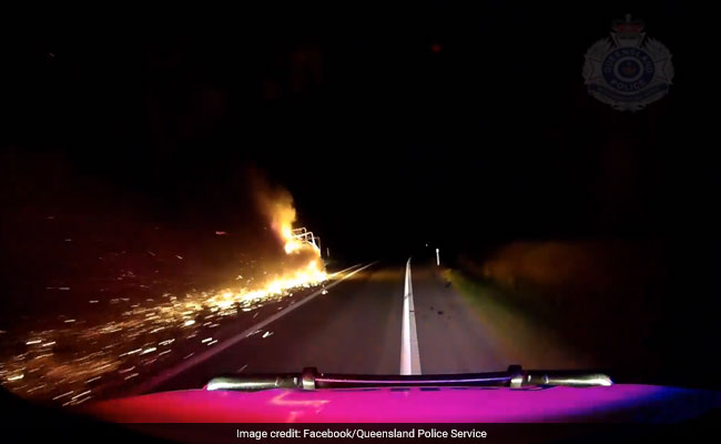 Watch: Burning Trailer Drags For 20 Kms, Throwing Debris And Flames On Highway