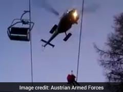 Video: Chopper Rescues People Stuck Mid-Air On Ski Lifts