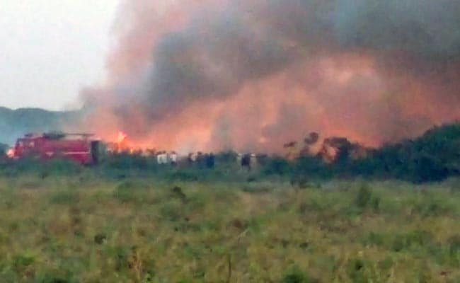 B'luru: Bellandur lake catches fire due to chemical accumulation