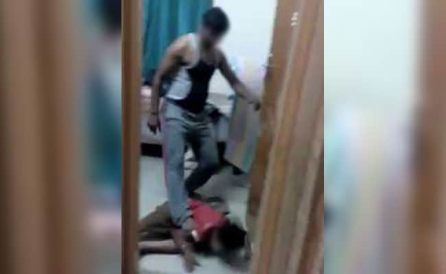 Plumber arrested after video of him beating up son goes viral