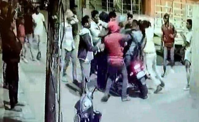 Drunk Bengaluru Mob Seen Hitting 2 Men On Bike In Viral Video