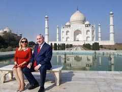 Israeli Prime Minister Benjamin Netanyahu, Wife Sara Visit Taj Mahal