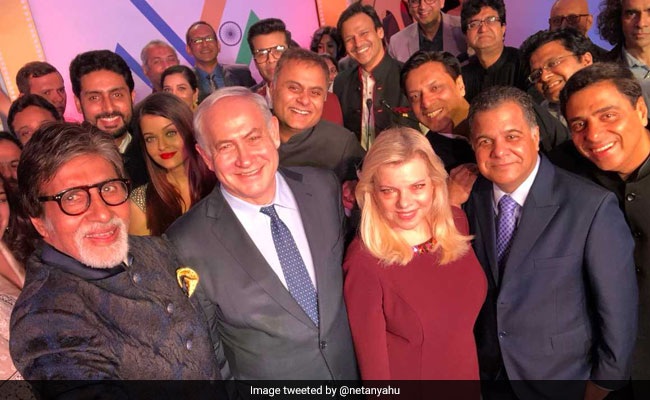 Benjamin Netanyahu's Bollywood Selfie With Amitabh Bachchan, Aishwarya And Other Stars