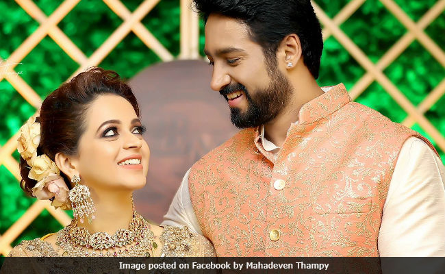 Viral New Pics From South Actress Bhavanas Wedding And Reception