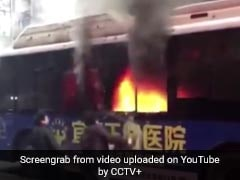Video: People Break Windows, Enter Burning Bus To Save Trapped Passengers