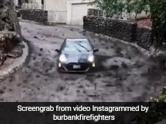 'Barely Made It Out' Says Couple Who Raced Car Out Of Mudslide. Watch