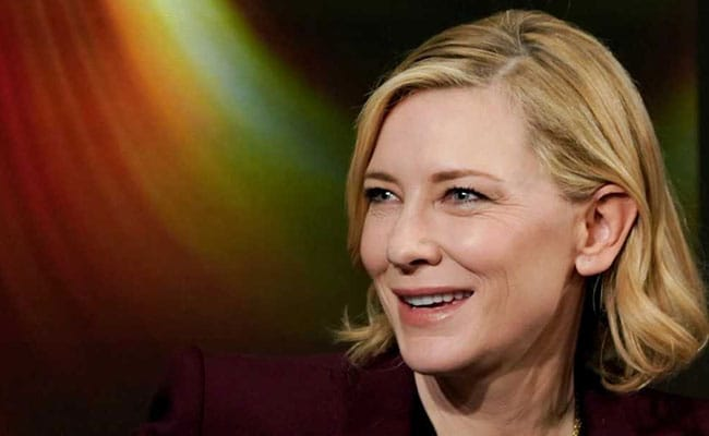 In Davos, Cate Blanchett Jokes About Playing Melania Trump