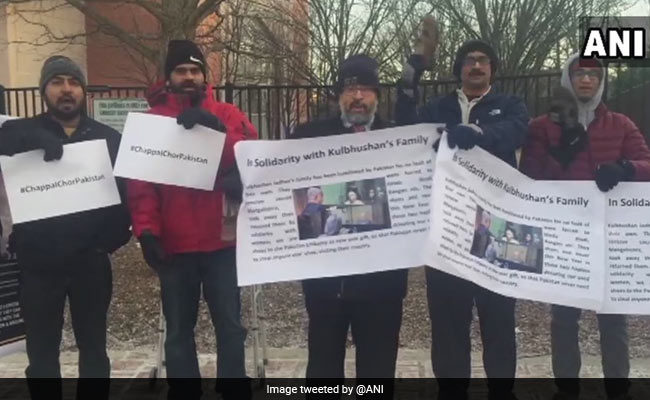 'Chappal Chor Pakistan' Protest In US Over Kulbhushan Jadhav Family Visit