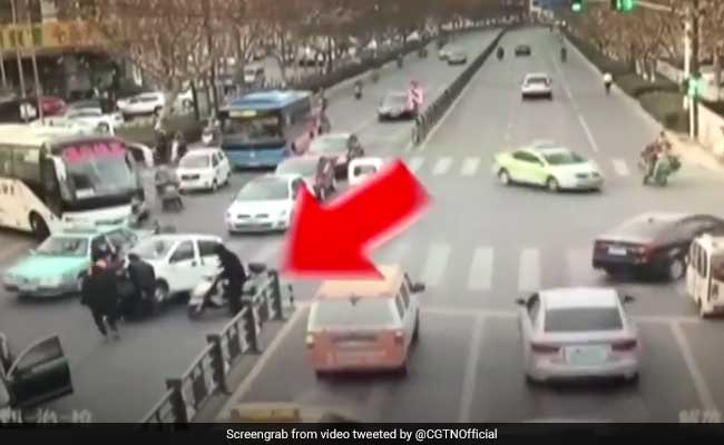 Woman Survives After Being Run Over By The Same Car Twice. Watch Video
