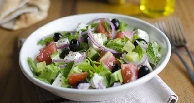 Cucumber, Black Olive and Mint Salad