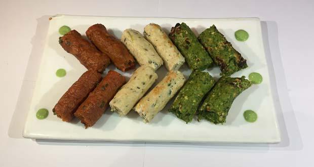 Tricolor Seekh Kebab