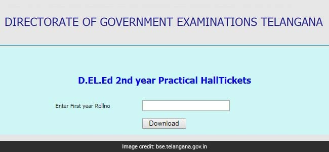 deled practical exam admit card