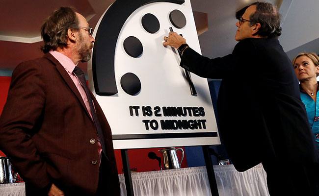 Doomsday Clock Now Just 2 Minutes To 'Midnight,' The Hour Of 'Apocalypse'