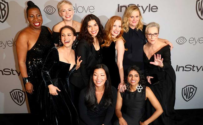 5bfd895f1c8 Those Black Golden Globes Outfits Will Be Auctioned For The Time s Up Fund