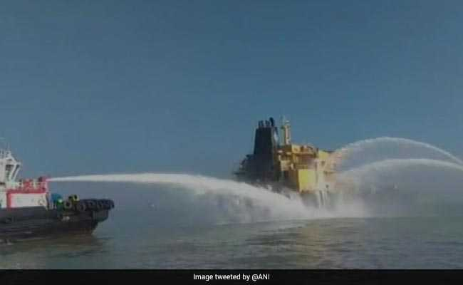 No Oil Spill From Fire-Hit Vessel Off Gujarat Coast, Operations On To Douse Blaze: Official