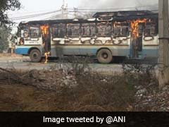 '<i>Padmaavat</i>' Protests: Haryana Roadways Bus Torched In Gurgaon