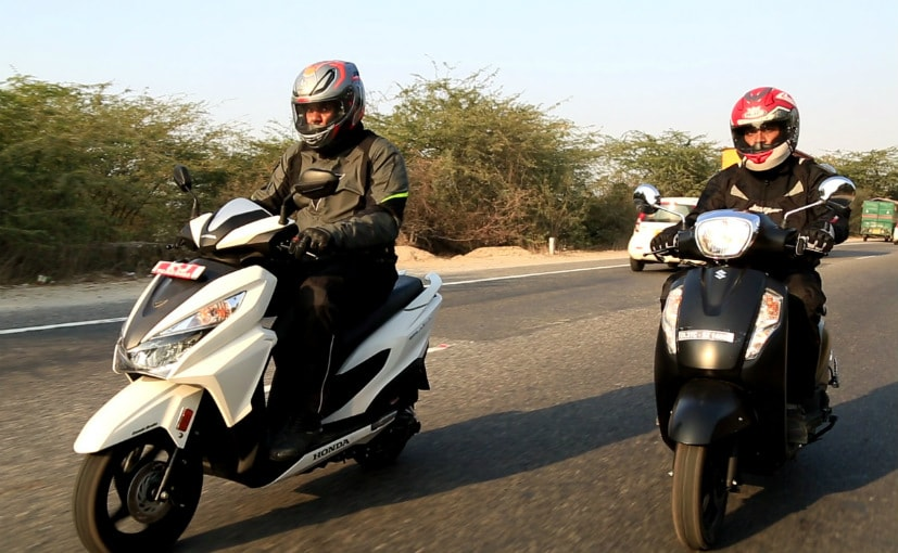 honda grazia vs suzuki access comparison review