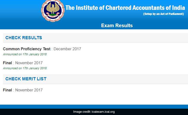 CA Result 2017, CPT Result 2017 Announced At Icaiexam icai org