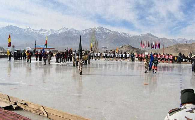 ice hockey ladakh itbp