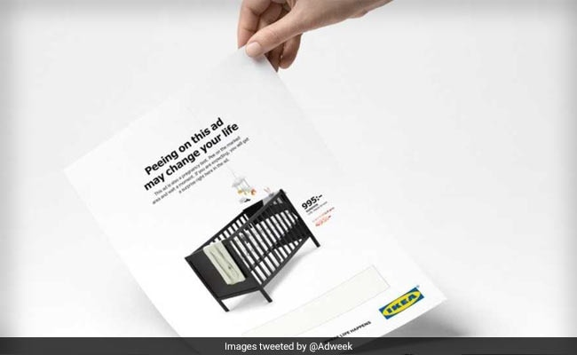 Ikea Just Released A New Ad That You're Supposed To Pee On
