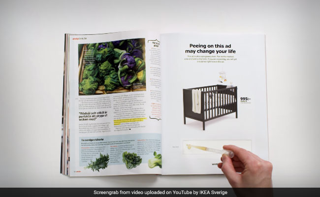Would You Pee on Ikea's Pregnancy Test Ad for a Huge Discount?