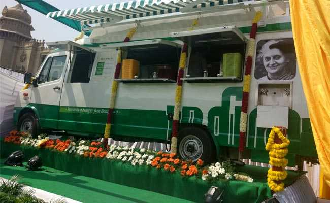 Bengaluru Gets 18 Indira Canteens On Wheels, Equipped With CCTV Cameras