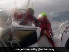 Watch: 6 Women Navy Officers On Expedition Brave Raging Storm In Pacific