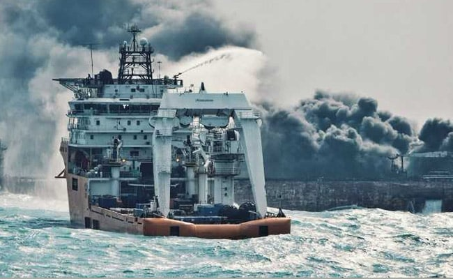 China Rescuers Recover Two Bodies, Black Box From Iranian Tanker Which Caught Fire