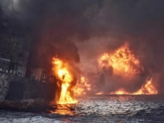 """No Hope"" For Survivors, As Iranian Oil Tanker Engulfed In Flames Sinks"