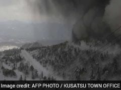 Japanese Volcano Erupts, Raining Rocks Onto Ski Slope And Triggering Avalanche
