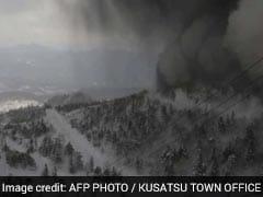 Japanese Volcano Erupts, Raining Rocks Onto Ski Slope And Triggering Avalanche
