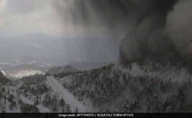Volcano spews LAVA BOMBS onto ski resort triggering MASSIVE avalanche