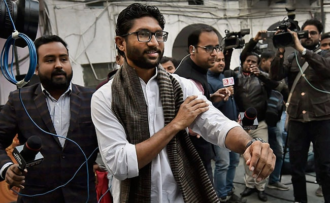 Jignesh Mevani reaches Parliament Street