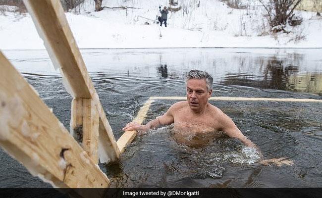 After Putin's Icy Dip, US Ambassador Tries Shirtless Diplomacy