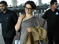 Kangana Ranaut's <i>Saree</i> With Loafers Look Is The Ultimate In Fuss-Free Style