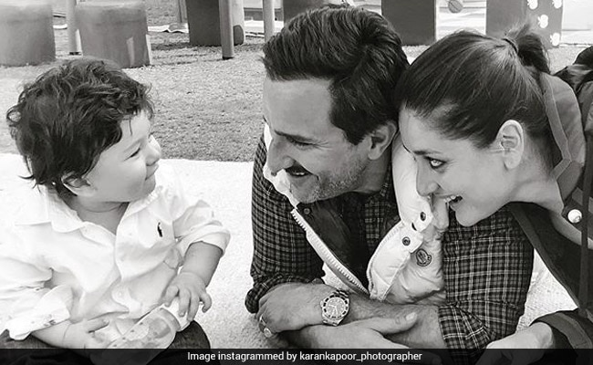 Karan Kapoor Posted This Pic Of Taimur With Parents Kareena And Saif Ali Khan