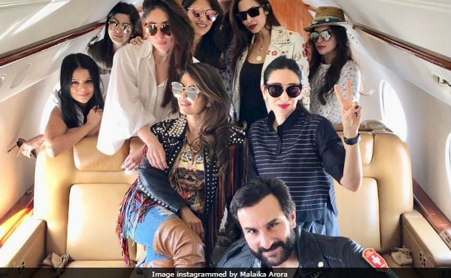 Inside Kareena And Karisma Kapoor's Private Plane To Goa
