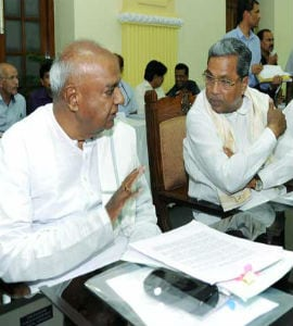 Former PM Deve Gowda Refuses To Share Dais With Karnataka Chief Minister