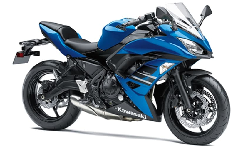 The newly launched candy plasma blue Kawasaki Ninja 650 ABS will be offered in limited numbers