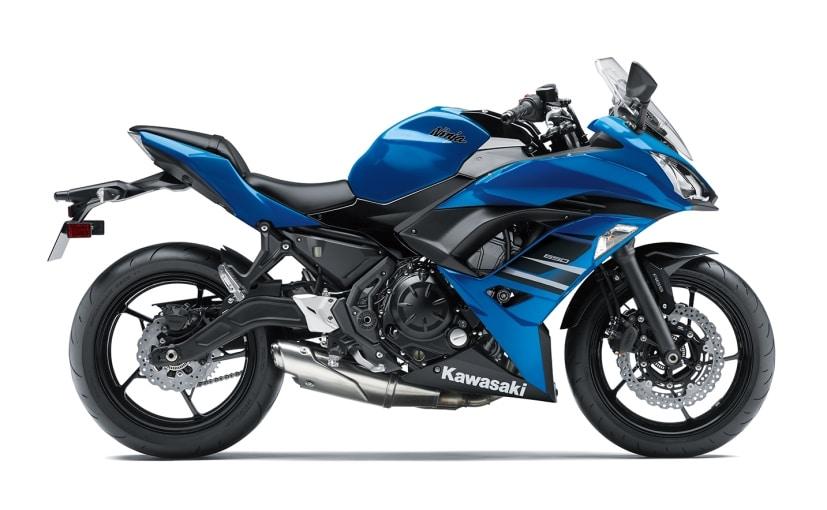 kawasaki ninja 650 blue